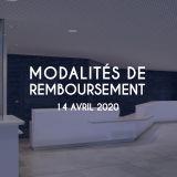 Modalités de remboursement 14/04/2020
